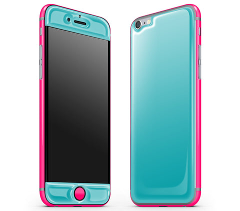 Teal / Neon Pink <br>iPhone 6/6s - Glow Gel Combo