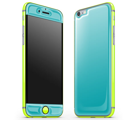 Teal / Neon Yellow <br>iPhone 6/6s - Glow Gel Combo