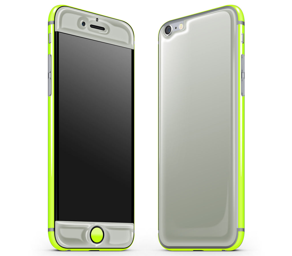 Steel Ash / Neon Yellow <br>iPhone 6/6s - Glow Gel Combo