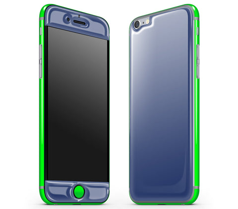 Navy Blue / Neon Green <br>iPhone 6/6s - Glow Gel Combo