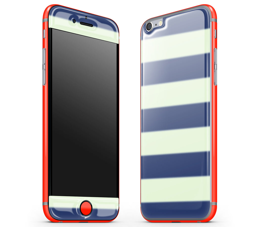 Nautical Striped / Neon Red <br>iPhone 6/6s - Glow Gel Combo
