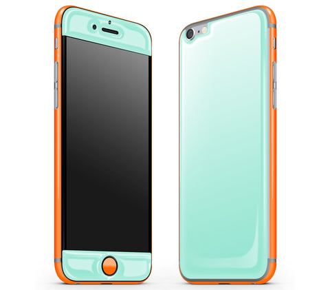 Mint / Neon Orange <br>iPhone 6/6s - Glow Gel Combo
