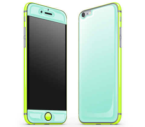 Mint / Neon Yellow <br>iPhone 6/6s - Glow Gel Combo