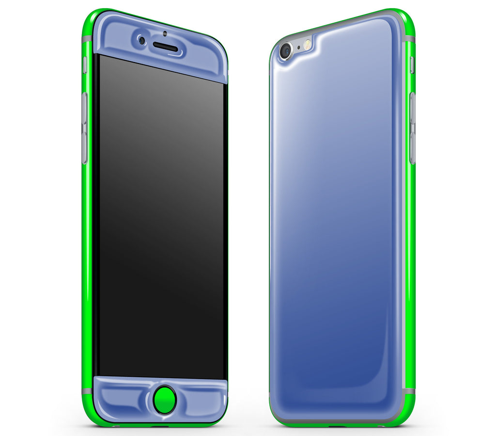 Electric Blue / Neon Green <br>iPhone 6/6s - Glow Gel Combo