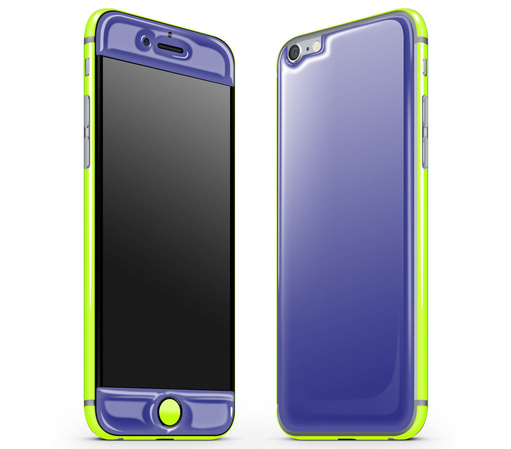 Purple / Neon Yellow <br>iPhone 6/6s - Glow Gel Combo