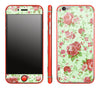 Floral / Neon Red <br>iPhone 6/6s - Glow Gel Combo