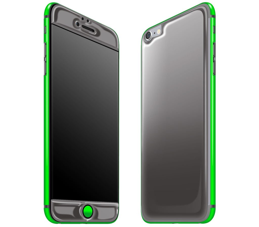 Graphite / Neon Green <br>iPhone 6/6s Plus - Glow Gel Combo