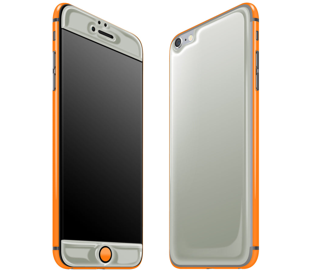 Steel Ash / Neon Orange <br>iPhone 6/6s Plus - Glow Gel Combo