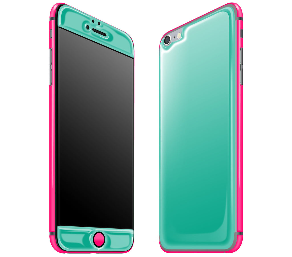 Teal / Neon Pink <br>iPhone 6/6s Plus - Glow Gel Combo