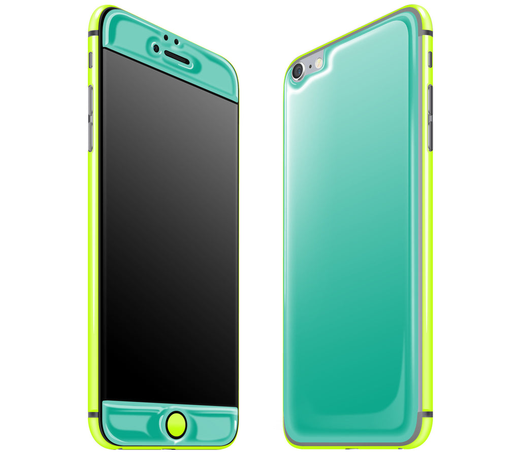 Teal / Neon Yellow <br>iPhone 6/6s Plus - Glow Gel Combo