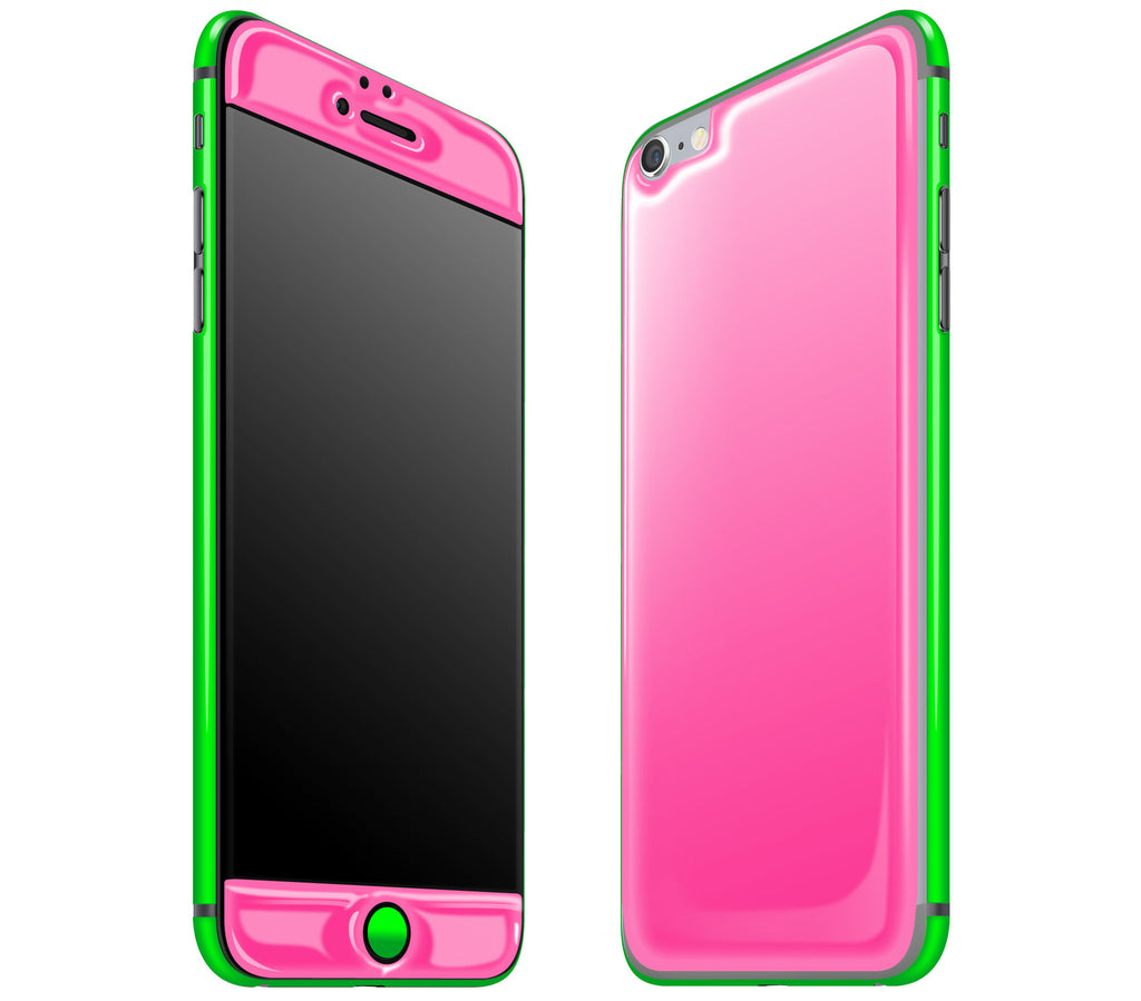 Cotton Candy / Neon Green <br>iPhone 6/6s Plus - Glow Gel Combo