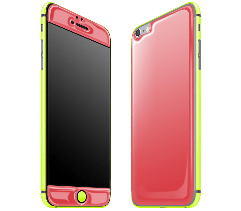 Rebel Red / Neon Yellow <br>iPhone 6/6s Plus - Glow Gel Combo