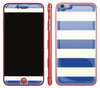 Nautical Striped / Neon Red <br>iPhone 6/6s Plus - Glow Gel Combo