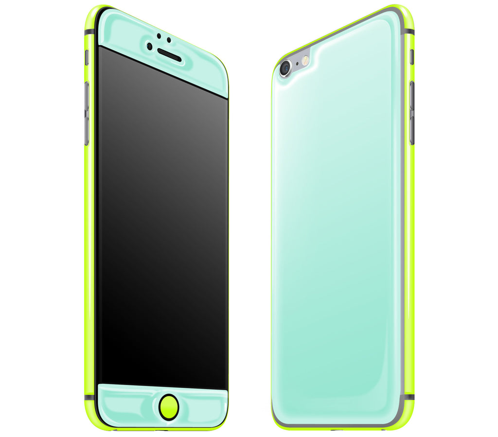 Mint / Neon Yellow <br>iPhone 6/6s Plus - Glow Gel Combo
