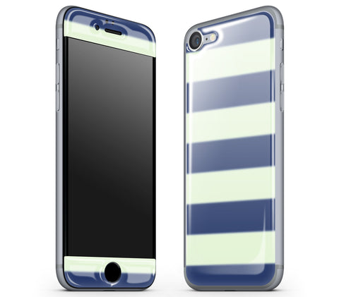 Nautical Striped <br>iPhone 7/8 - Glow Gel Skin