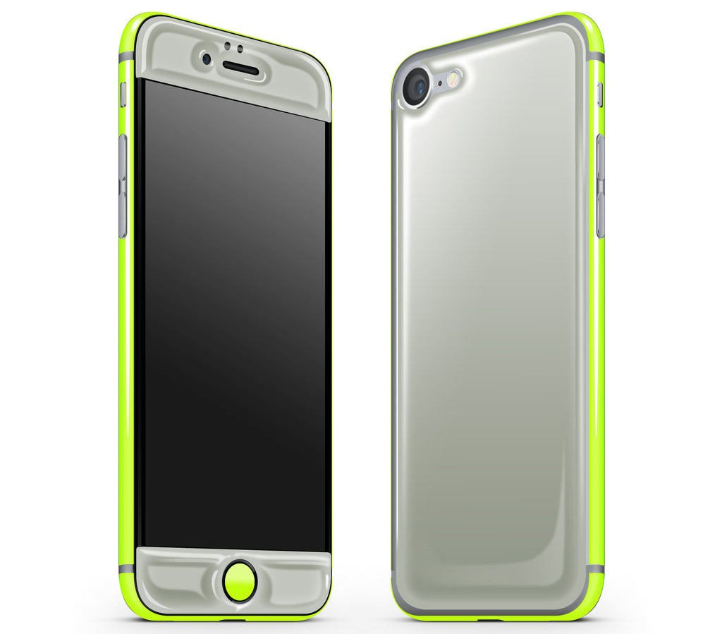 Steel Ash / Neon Yellow <br>iPhone 7/8 - Glow Gel Combo
