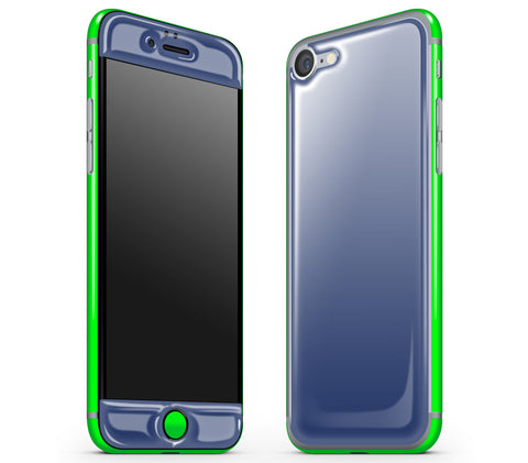 Navy Blue / Neon Green <br>iPhone 7 - Glow Gel Combo