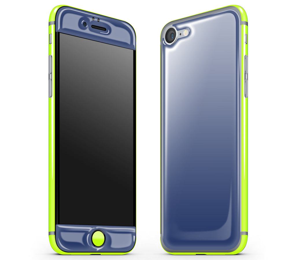 Navy Blue / Neon Yellow <br>iPhone 7/8 - Glow Gel Combo