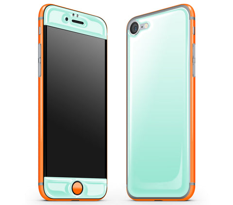 Mint / Neon Orange <br>iPhone 7 - Glow Gel Combo