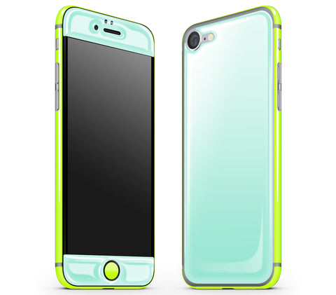 Mint / Neon Yellow <br>iPhone 7 - Glow Gel Combo