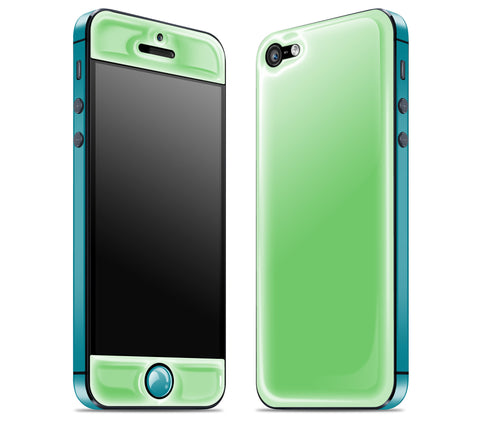 Apple / Teal <br>iPhone 5 - Glow Gel Combo