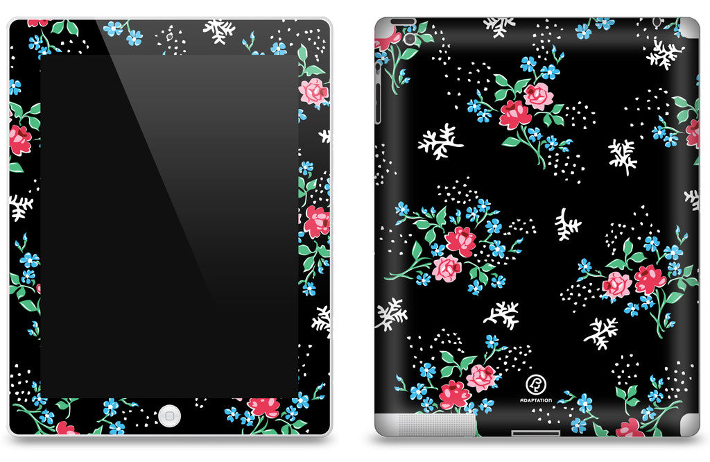 Vintage Rose & Flower <br>Matte Skin - iPad 2 & 3