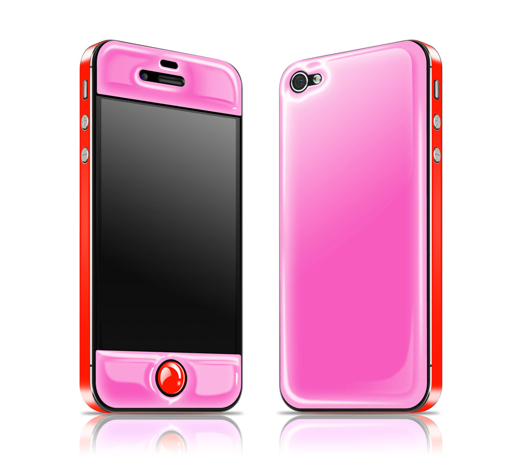 Cotton Candy / Clambake Red<br> Glow Gel skin - iPhone 4 / 4s