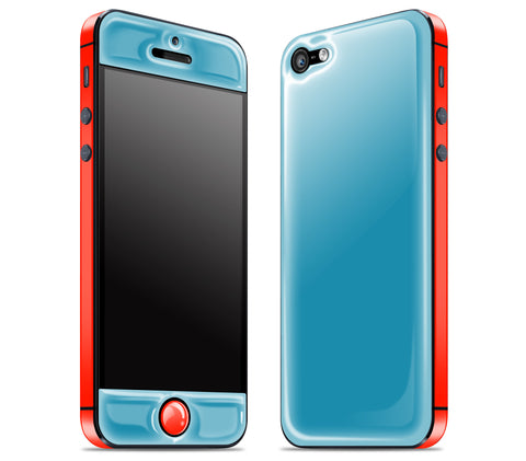 Electric Blue / Fire Red <br>iPhone 5 - Glow Gel Combo