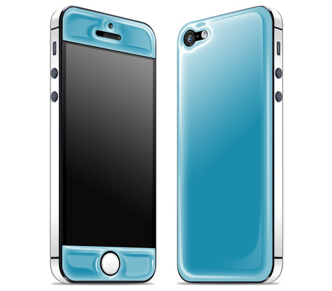 Electric Blue / White <br>iPhone 5 - Glow Gel Combo