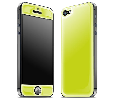 Citron / Charcoal <br>iPhone 5 - Glow Gel Combo