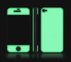 Steel Ash / Green <br> Glow Gel skin - iPhone 4 / 4s