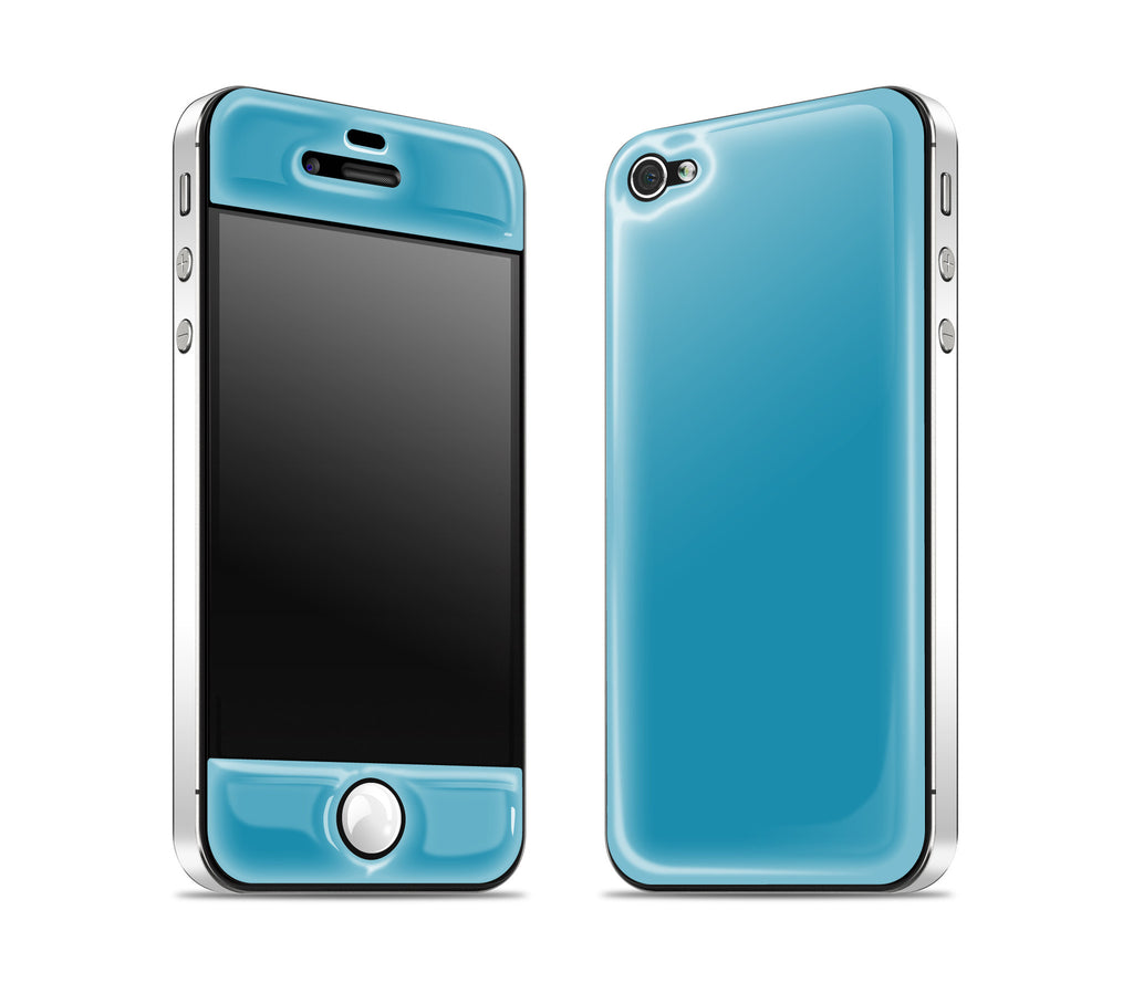 Electric Blue / White<br> Glow Gel skin - iPhone 4 / 4s