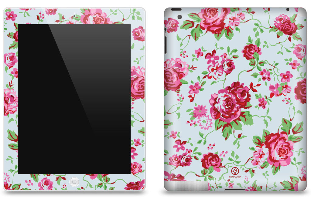 Vintage Rose Blue <br>Matte Skin - iPad 2 & 3