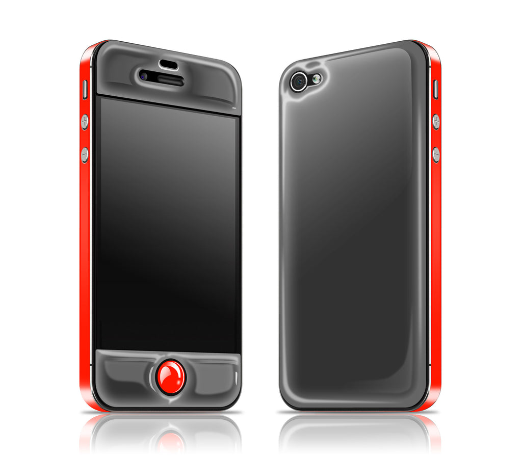 Graphite Pine / Fire Red<br> Glow Gel skin - iPhone 4 / 4s