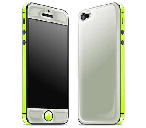 Steel Ash / Neon Yellow <br>iPhone 5 - Glow Gel Combo