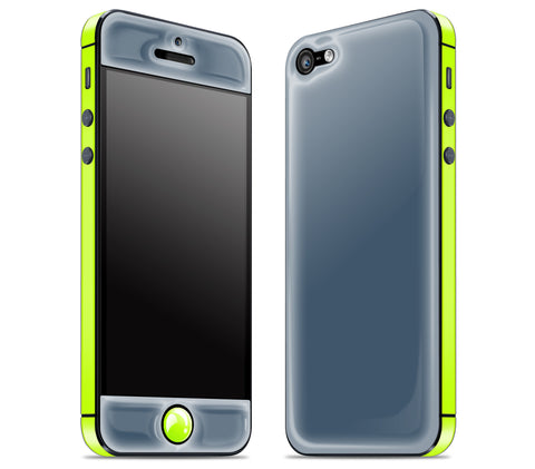 Vintage Navy / Neon Yellow <br>iPhone 5 - Glow Gel Combo