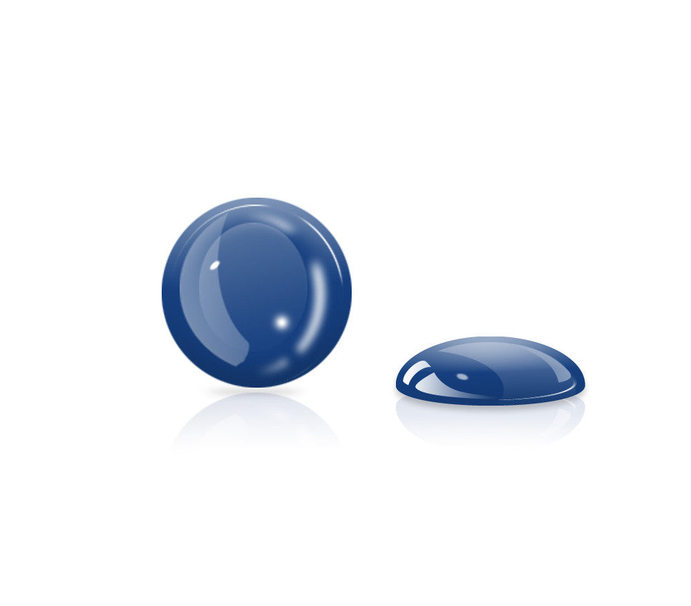 Navy Blue Glow Gel Button <br>All iPhones, iPods, iPads