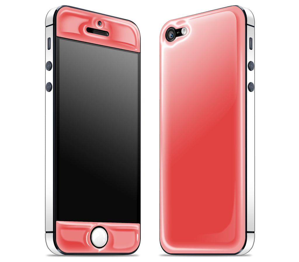 Coral / White <br>iPhone 5 - Glow Gel Combo