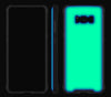 Cotton Candy / Neon Green <br>Samsung S8 - Glow Gel case combo