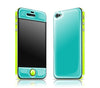 Teal / Neon Yellow<br> Glow Gel skin - iPhone 4 / 4s