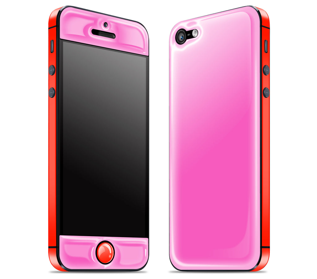 Cotton Candy / Clambake Red <br>iPhone 5 - Glow Gel Combo