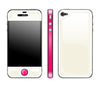 Cream / Neon Pink<br> Glow Gel skin - iPhone 4 / 4s