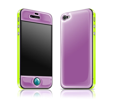 Grape / Neon Yellow / Teal<br> Glow Gel skin - iPhone 4 / 4s