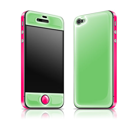 Apple / Neon Pink <br> Glow Gel skin - iPhone 4 / 4s