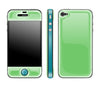 Apple / Teal <br> Glow Gel skin - iPhone 4 / 4s