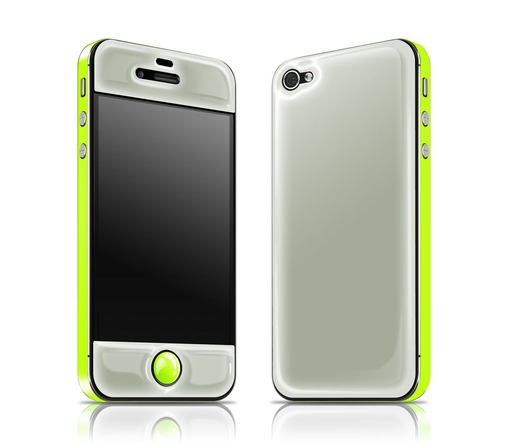 Steel Ash / Neon Yellow <br> Glow Gel skin - iPhone 4 / 4s