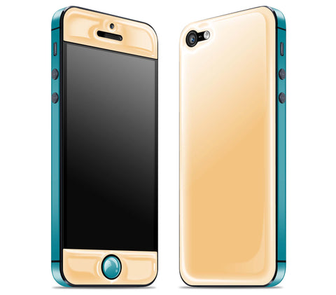 Peach / Teal <br>iPhone 5 - Glow Gel Combo