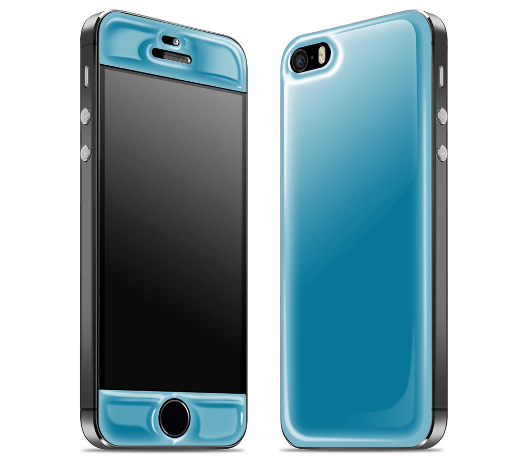 Electric Blue / Grey <br>iPhone 5s - Glow Gel Combo