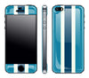 Blue Striped <br>iPhone 5s - Glow Gel Skin