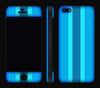 Blue Striped / White <br>iPhone 5s - Glow Gel Combo